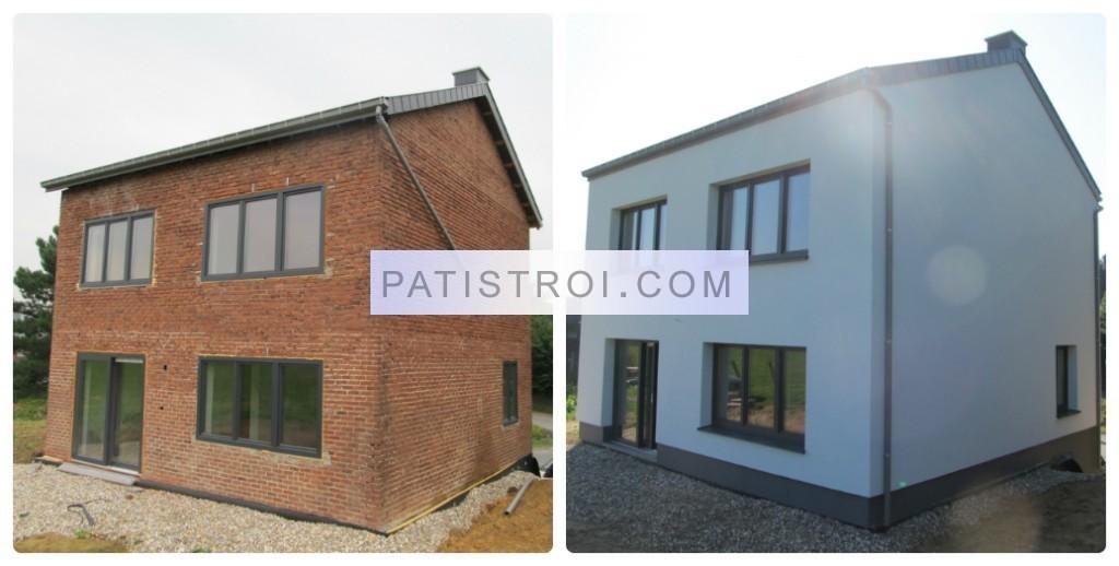 Топлоизолация на къща във Визе Белгия - преди и след